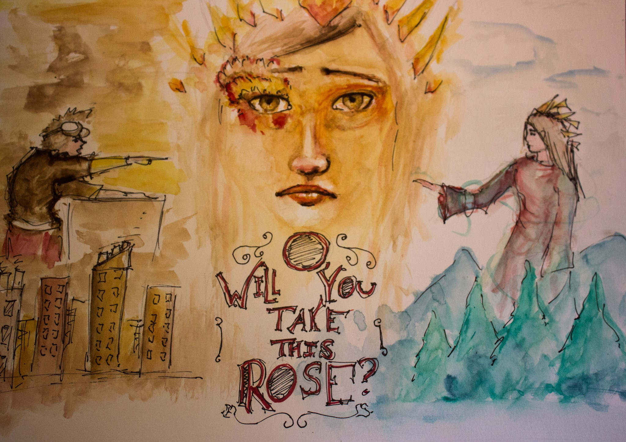O, Will You Take This Rose Poster